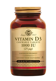 Vitamin D-3 25 µg/1000 IU chewable tablet