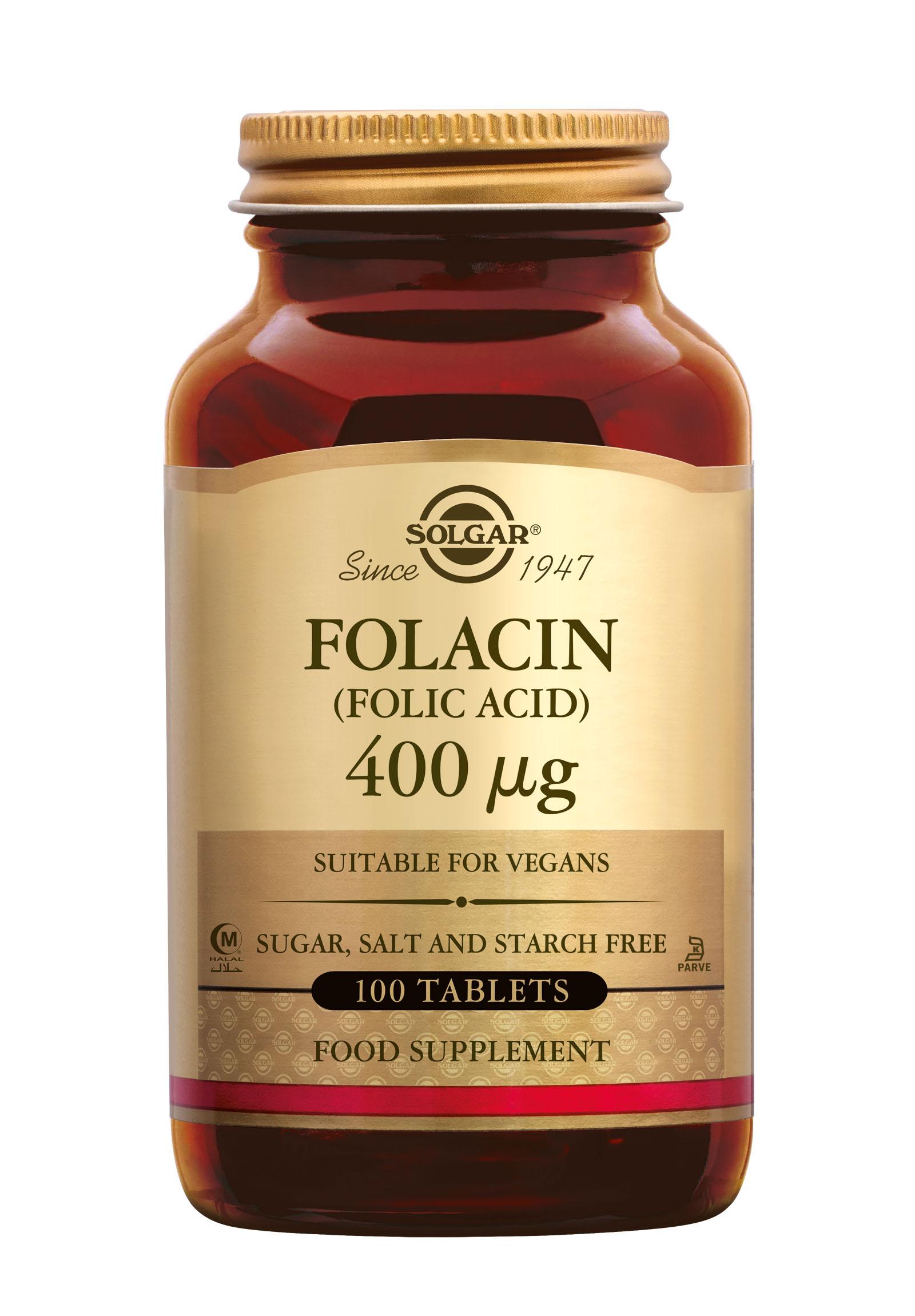 Folacin (folic acid) 400 mcg