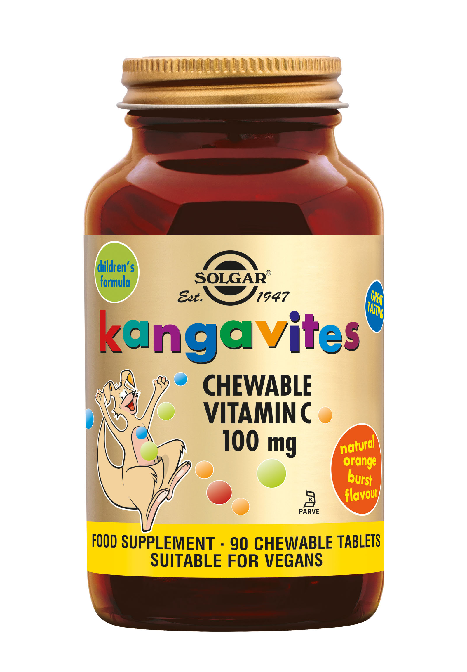 Kangavites Chewable Vitamin C 100 mg